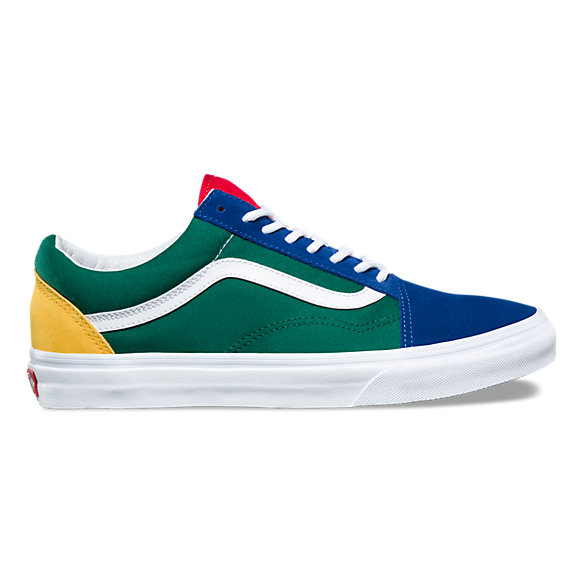 colorful vans blue green yellow